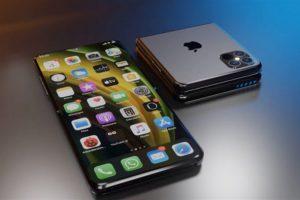 Đây là một trong hai thiết kế điện thoại iPhone gập có thể ra mắt vào năm 2022